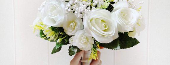White Wedding Hanbouquet flower hanbuket buket bunga bunga pernikahan