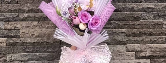 artifisial hanbouquet / buket bunga / bunga wisuda / purple flower