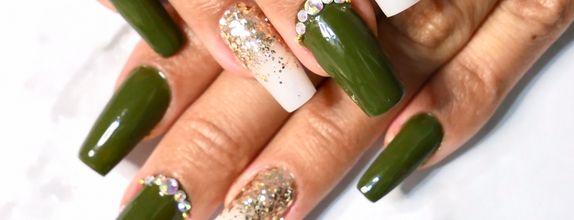 Pixie Dust Nail - Matcha extension nail