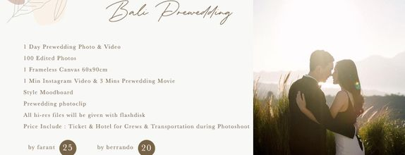 Bali Prewedding Promo By Farant Marshall