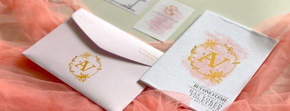Alvin & Vivi's Wedding Invitation - Single Hardcover