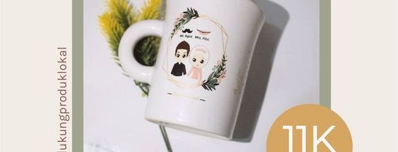 FLASH SALE MUG F MINI WEDDING SOUVENIR