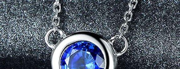 Magnificent TIARIA Sapphire Necklace Kalung Emas Safir
