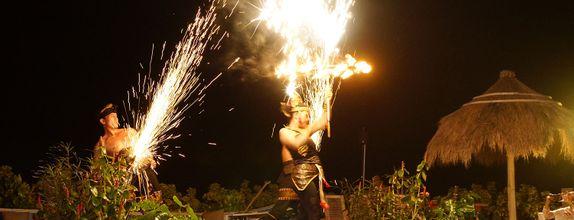 Bali fire dance