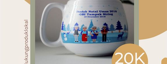 FLASH SALE MUG DONAT BESAR WEDDING SOUVENIR