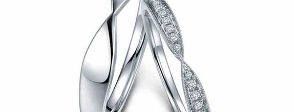 TIARIA Harmonious Line Diamond Wedding Ring Cincin Nikah Emas Berlian