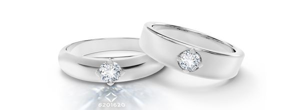 DP FOREVERMARK DIAMOND WEDDING RING (BRIDE'S RING)