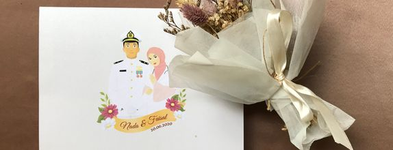 Couple Illustration Invitations