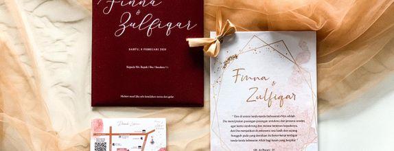 Finna & Zulfiqar's Wedding Invitation - Single Hardcover
