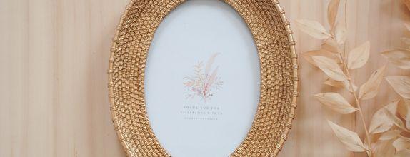 frame oval gold