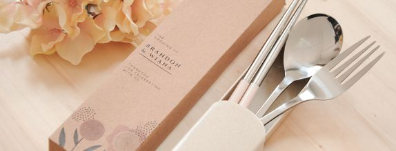 Stainless wheat cutlery set