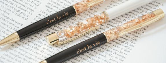 gold flakes pen - Bal 29