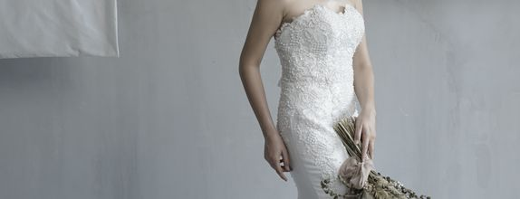 FOR RENT | Queen Anne Mermaid Wedding Gown