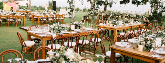 Dinner Reception Decoration (Long Table) - 200 pax