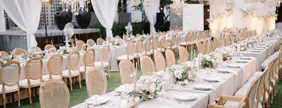 Dinner Reception Decoration (Long Table) - 150 pax