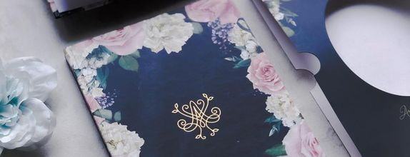 Floral Navy Blue - Notebook Souvenir