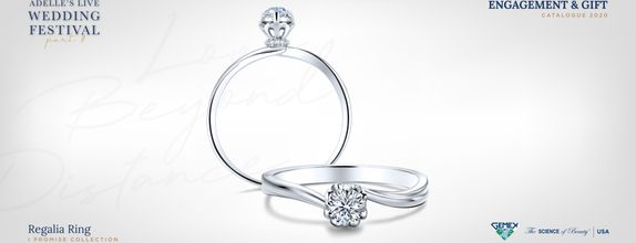 Adelle Jewellery Regalia I Promise - Diamond Ring - Cincin Tunangan