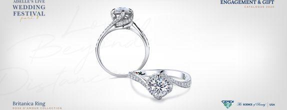 Adelle Jewellery Britanica Rose D'Amour Solitaire Ring-Cincin Tunangan
