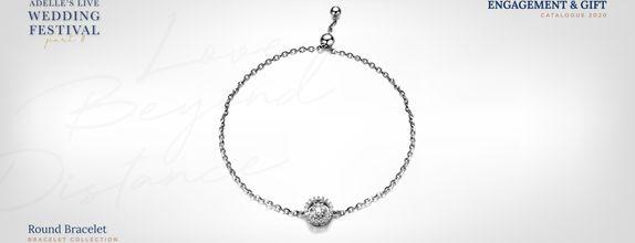 Adelle Jewellery Round Diamond Bracelet - Gelang Berlian