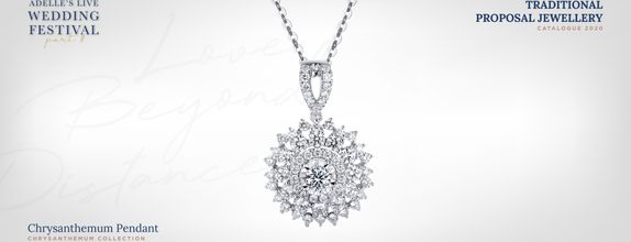 Adelle Jewellery Chrysanthemum Diamond Pendant - Liontin Berlian