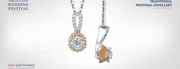 Adelle Jewellery Love Leaf Diamond Pendant - Liontin Berlian