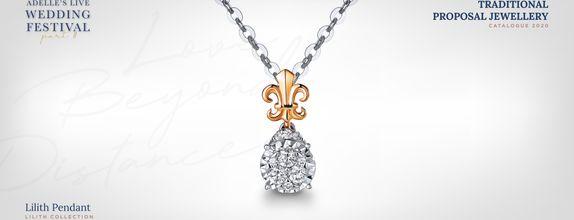 Adelle Jewellery Lilith Diamond Pendant - Liontin Berlian