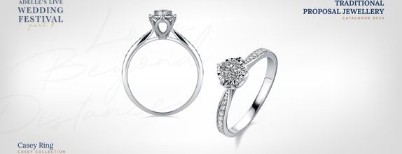 Adelle Jewellery Casey Diamond Ring - Cincin Berlian