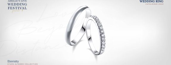 Adelle Jewellery Eternity Wedding Ring - Cincin Pernikahan