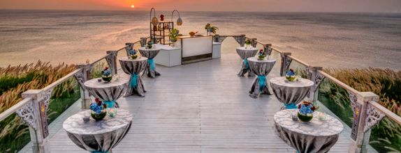 SKY SUNSET COCKTAIL & DINNER - COMPLETE PACKAGE 200 GUESTS