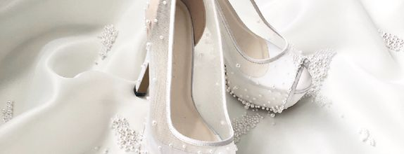 DHYNE - WHITE PEARLS - 12cm - Wedding Shoes - Bride Shoes- Party Shoes