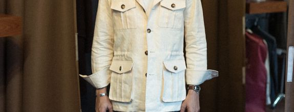 Safari Jacket Linen Fabric (Spence & Bryson)