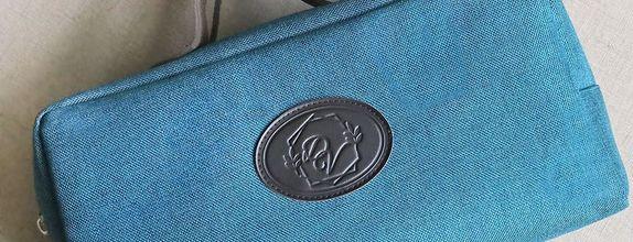 Longchamp Pouch Denim with Handle JUMBO