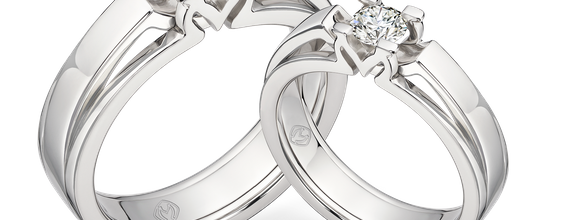 DP MOIRA WHITE DIAMOND RING (GROOM'S RING)