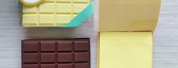 Chocolate post it - mix colour