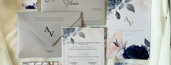 Andrean & Vanie Single Hardcover Wedding Invitation