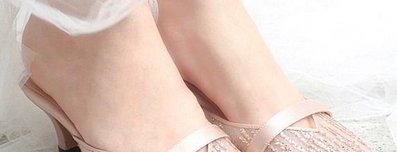 Grace Pink Glitter Shoes