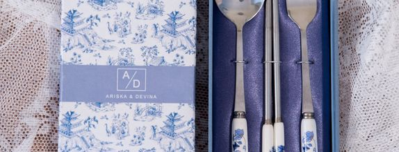Chinoserie spoon, fork & chopstick  - CS 84C