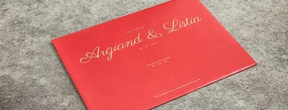 Argiand & Listia - Single Hardcover Invitation / Undangan Hardcover