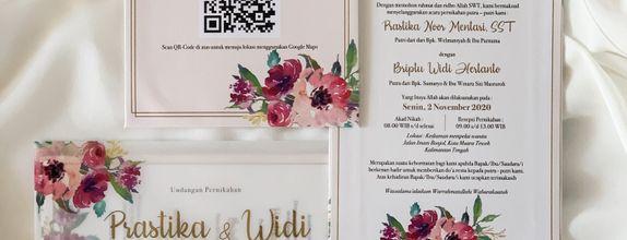 PRASTIKA & WIDI  - single hardcover wedding invitation