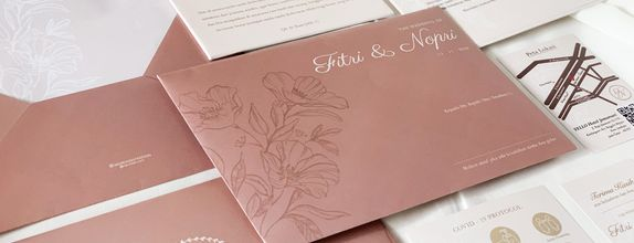 Fitri & Nopri - Single Hardcover Wedding Invitation