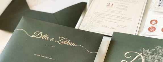 Dilla & Zulhan - Single Hardcover Wedding Invitation