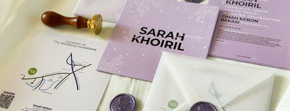 Sarah & Khoiril - SIngle hardcover wedding invitation