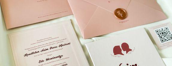 Naim & Edo - single hardcover wedding invitation