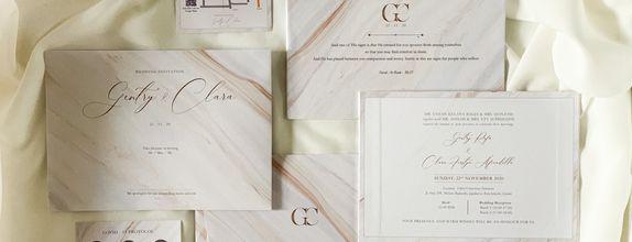 Gentry & Clara - Single Hardcover Wedding Invitation