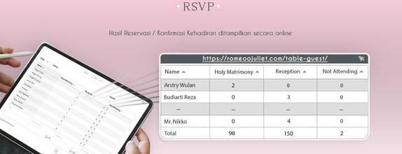 RSVP / Online Reservasi