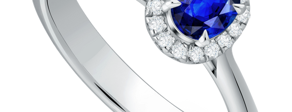 DP ROYALE BLUE SAPPHIRE LADIES RING