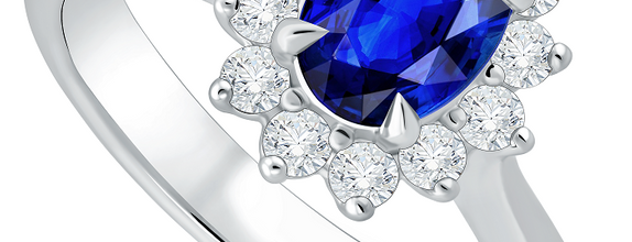 DP IMPERIAL BLUE SAPPHIRE LADIES RING