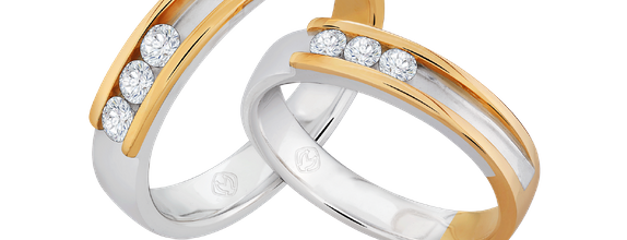 DP TRILOGY COLLECTION DIAMOND WEDDING RING (BRIDE'S RING)
