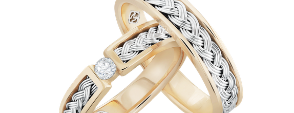 DP TIMELESS WEDDING RING FORGET ME NOT (1 PAIR)
