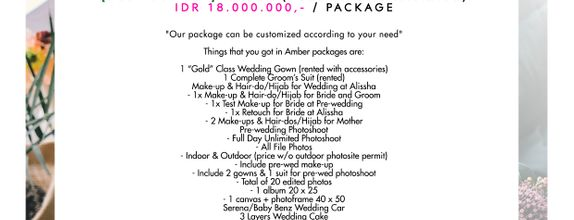 "Paket Bridal Wedding ""Amber"" (Full Bridal Package) [BEST BUDGET]"